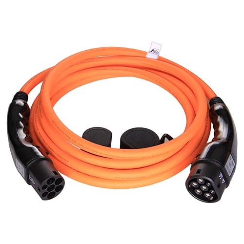 1-EV Type2 -> Type2 orange (3x32A) EV töltő