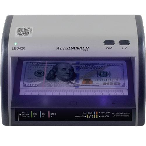1-AccuBANKER LED420 bankjegyvizsgáló