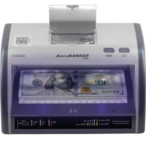 1-AccuBANKER LED430 bankjegyvizsgáló